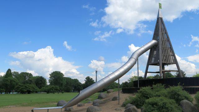 Rheinpark Spielplatz Köln Familienausflug